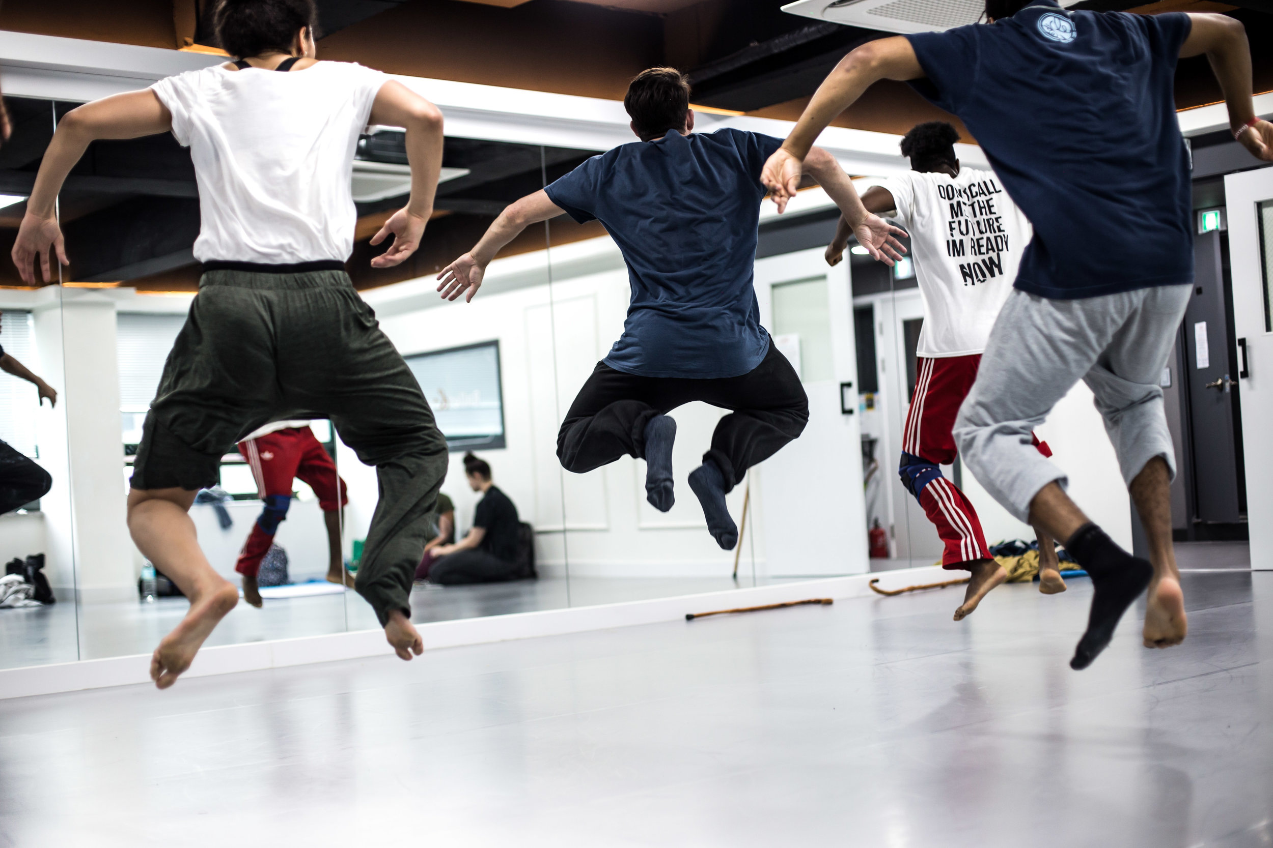 Dance Collaboration Between the company Far From The Norm and 4 Korean Dance Artists - Rehearsals
