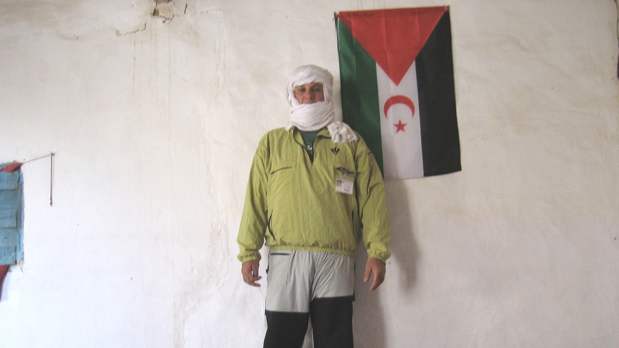 acampamento saharoui onde fiquei detido em Bir Lehlou, Saara Ocidental