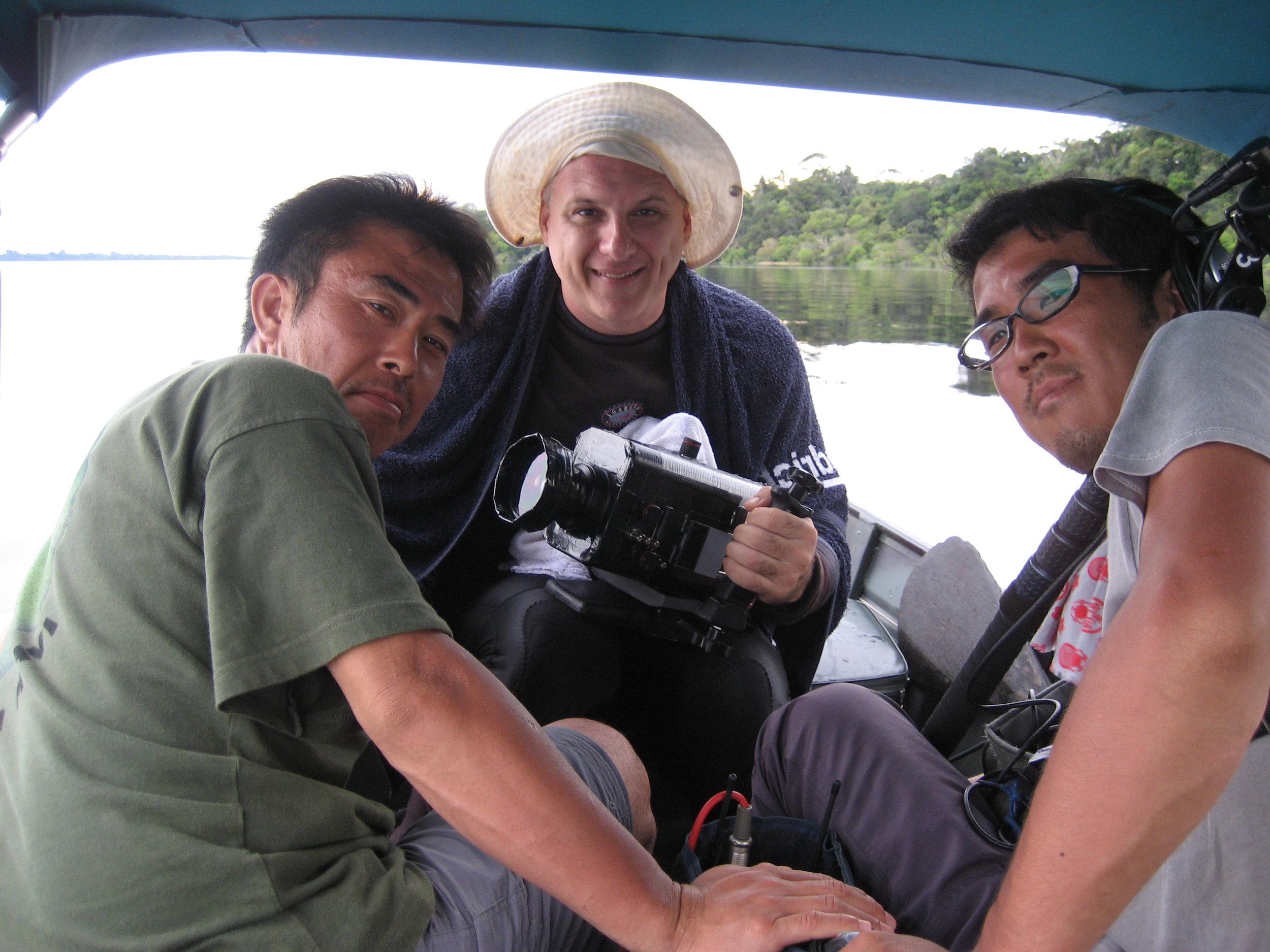 Trabalhando para a NHK -Tv japonesa- na Amazônia
