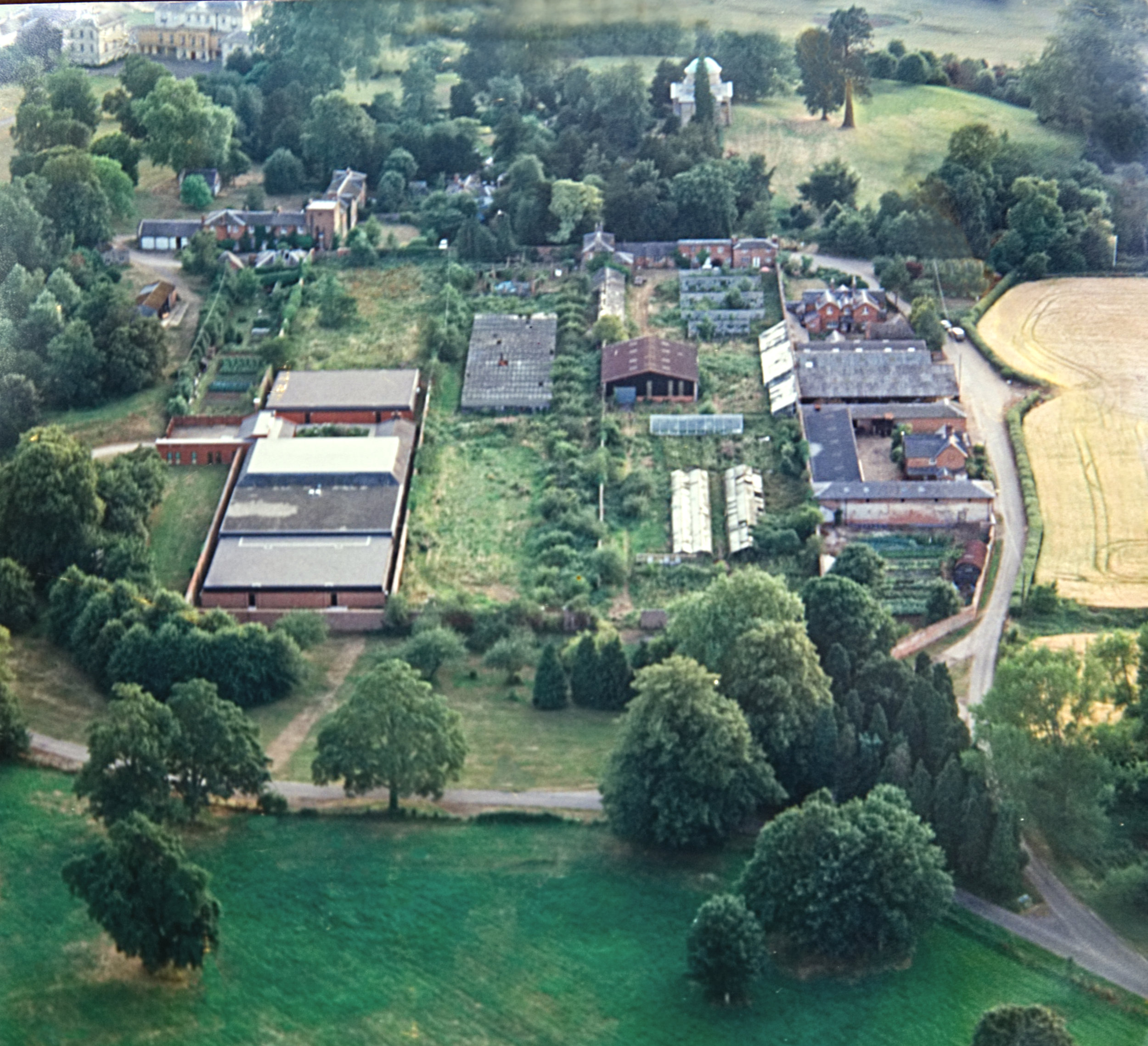 Old Aerial Photograph of the Walled Garden