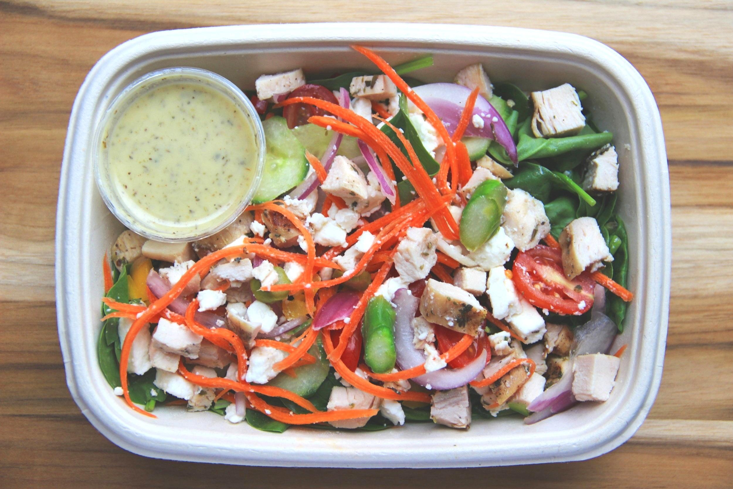 chopped asparagus salad w chicken (overhead).JPG