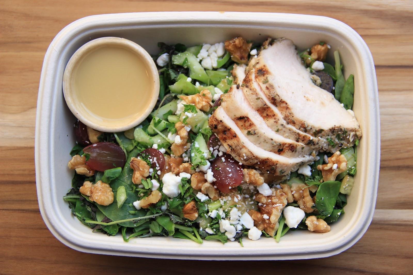 Tarragon Chicken Spinach Salad