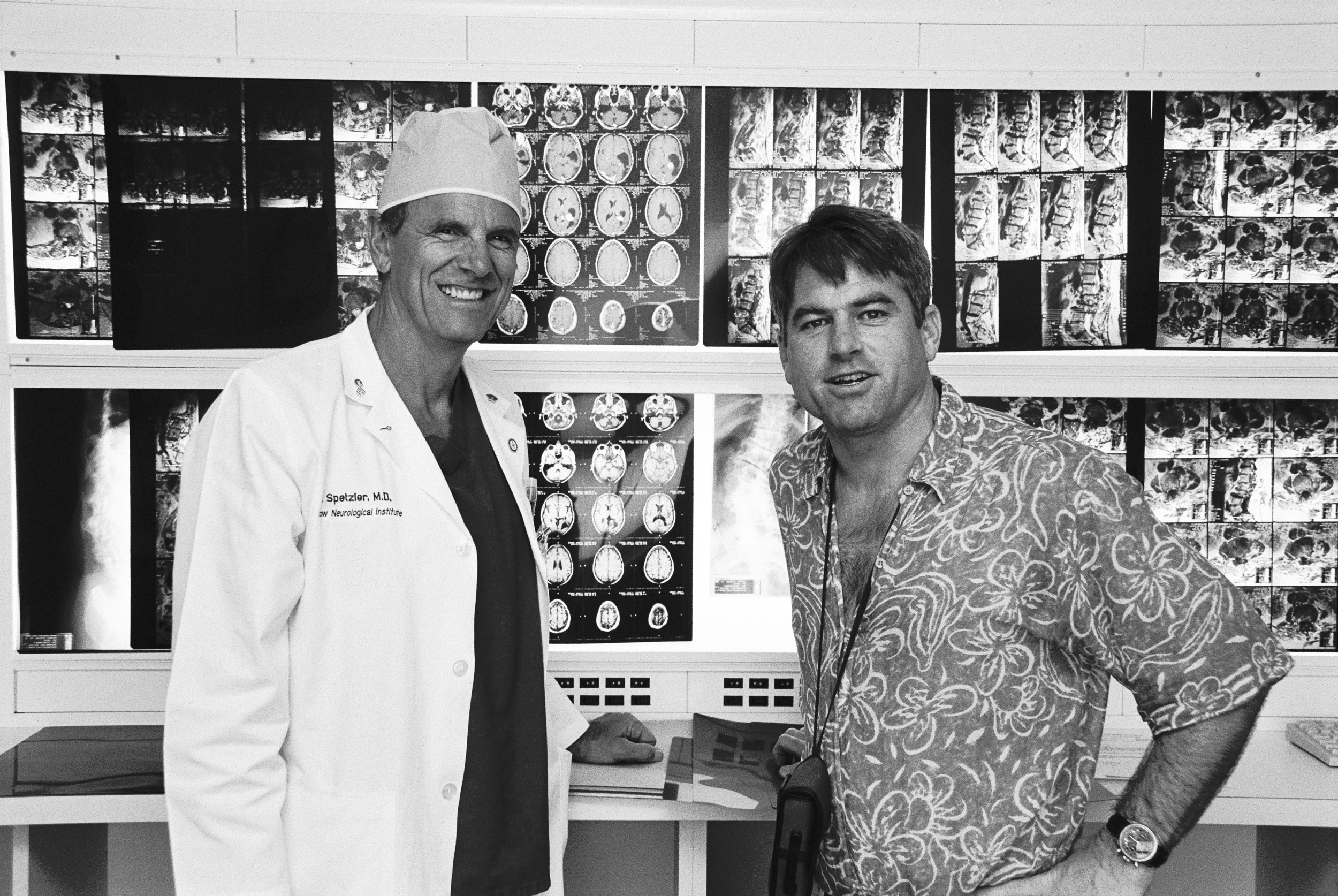 Surgeon and patient reunited 18 months after my brain surgery.
