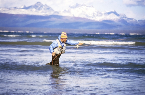 Yvon Chouinard ‐ maverick Patagonia founder‐ fly fishing. A cash crisis in '91 nearly brought the company to its knees. During crisis talks, Chouinard and his team decided to limit growth of 5% per annum and to start making jackets from recycled polyester in 1993. © Patagonia (2010)