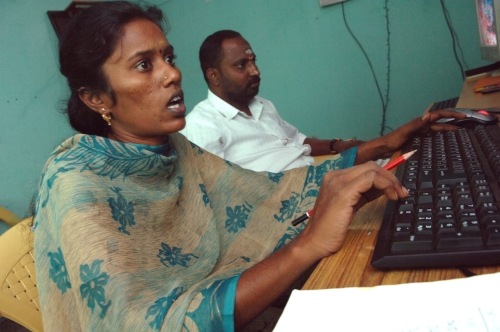 The Desicrew workers, mostly unemployed graduates, log on to a multimedia PC at an internet-enabled village kiosk. Many are educated young women who have no option but to stay in their villages to work. So far, there are six centres employing 70 rural people.