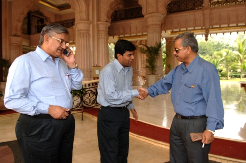 Much of the high powered networking in Bangalore takes place in the hotel lobby of the exclusive Leela Palace on Airport Road.