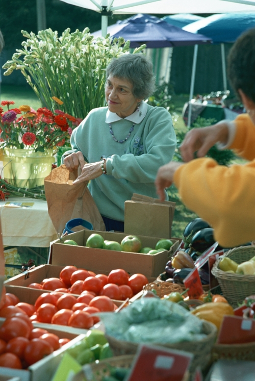 Carla Shuford shops for her weekly organic fruit and vegetables every Saturday morning at her local farmer's market. She credits her remarkable survival of advanced bone cancer to the Gerson therapy - a tough nutritional regime involving 13 glasses of juiced organic fruit and vegetables per day – plus coffee enemas and liver enzyme pills.
