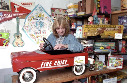 Joyce Grant of Timewarp.com based in rural Catskill Mountains has found a niche market for her specialist toy antiques over the internet. Items which would normally only collect $40 locally can be sold for as much as ten times that much on the internet.