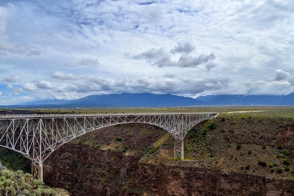 The Rio Grande River Gorge Bridge outside of Taos, New Mexico
