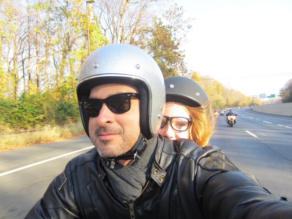 Motorcycle selfie. Yep.
