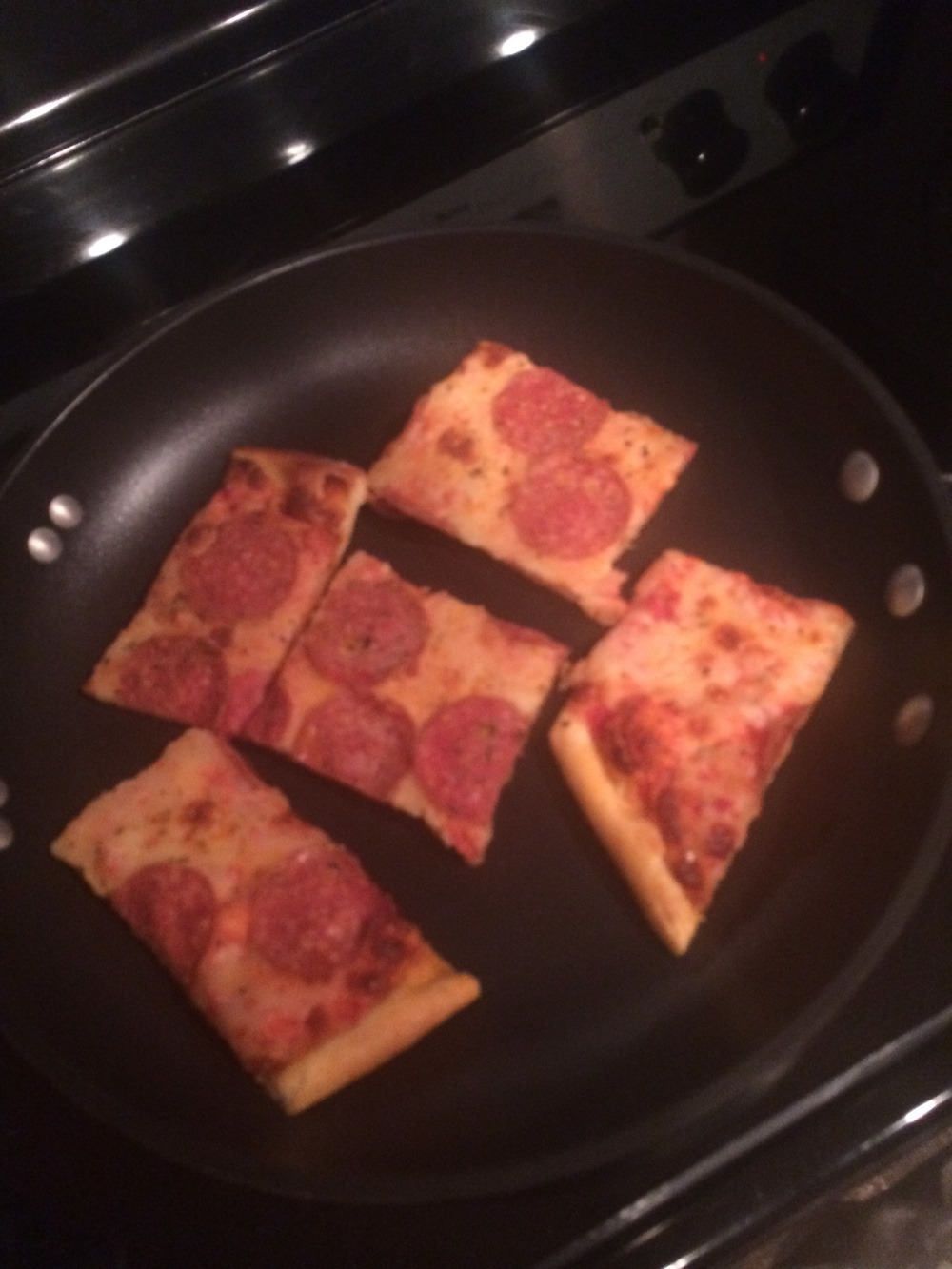 P.S.: Heating up leftover pizza in a frying pan is the best way to ensure a crispy, non-soggy crust.