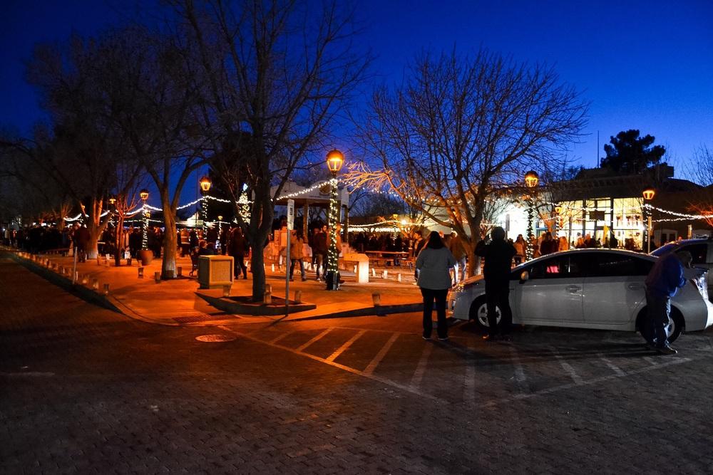 Old town Mesilla on Christmas Eve