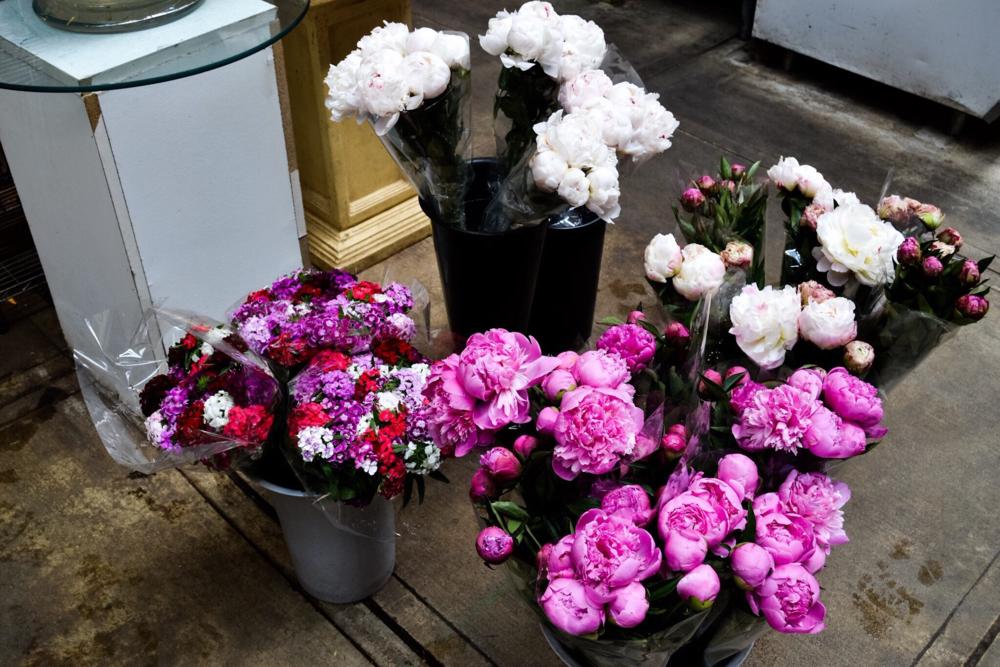 Fresh blooms in Eastern Market
