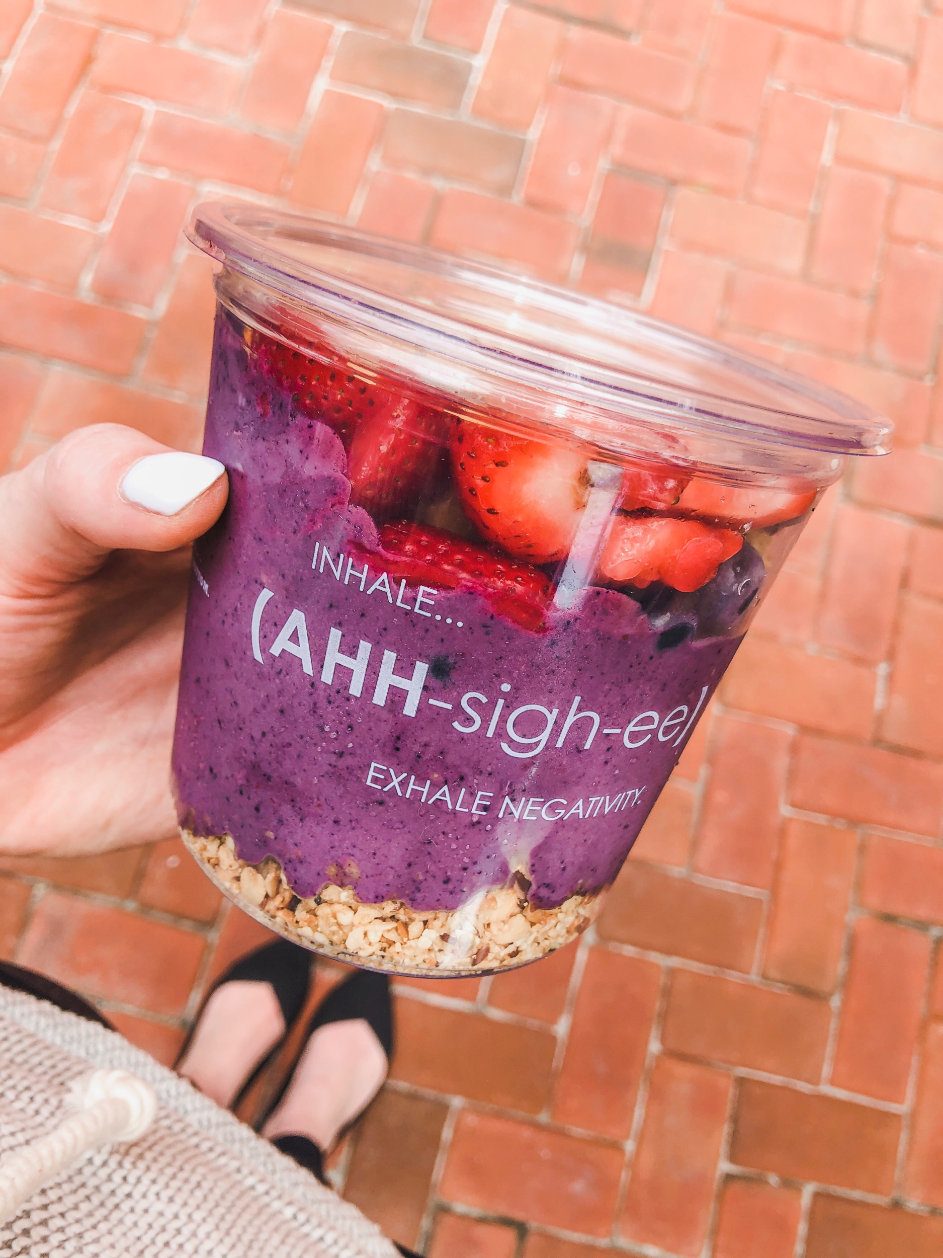 This warm weather just makes me want cold fruit and cold salads, so I could happily eat a smoothie bowl from SouthBlock every day.