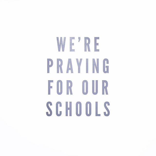For all the students, teachers, administrators, staff, and support personnel. We are praying for you all!