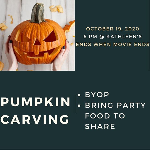 Bring your own Pumpkin and party food to share. Rain is in the forecast so we may change location. Be on the lookout for this and invite a friend.