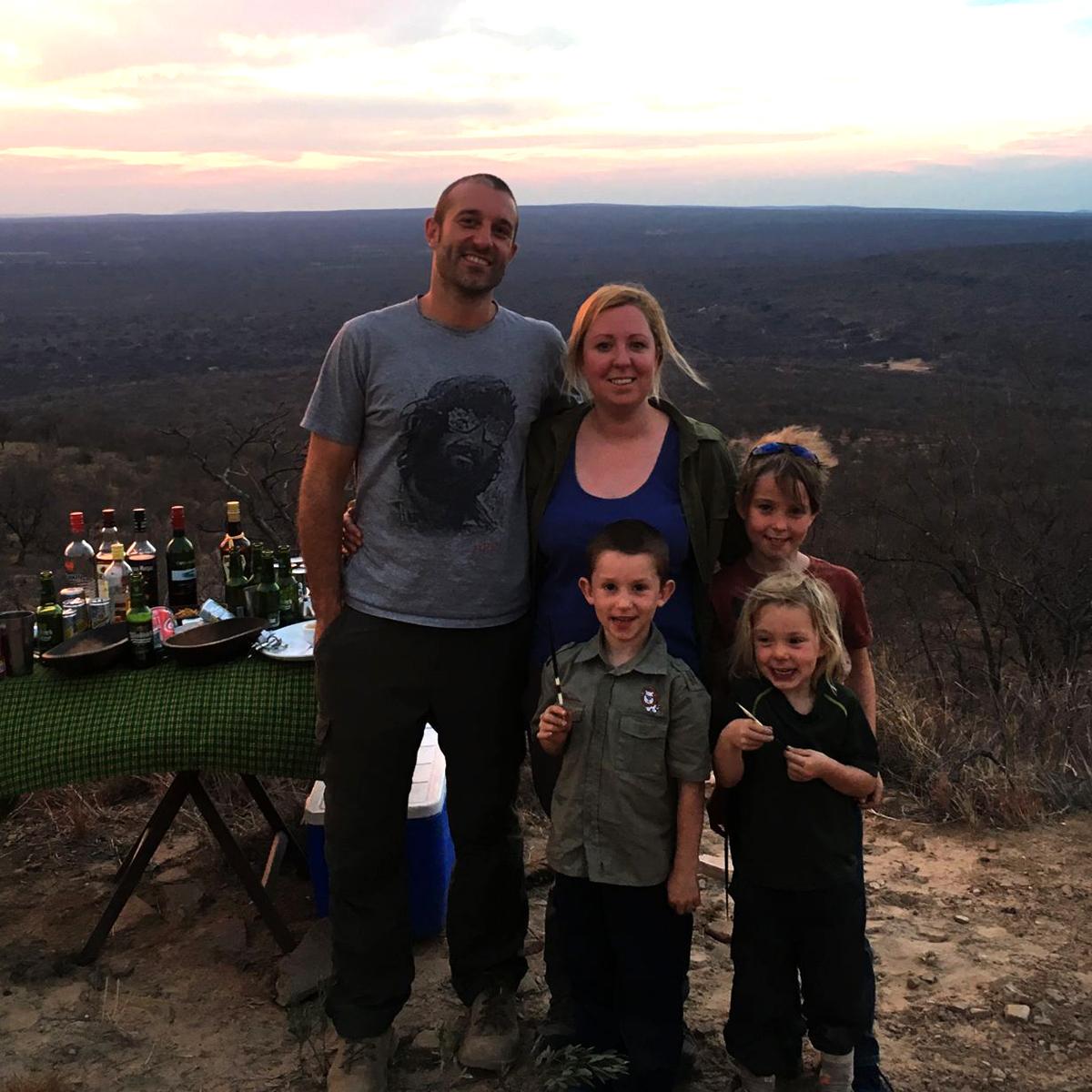 The Dean Family: Rob, Caitlin, Alfie, Patrick & Orla.