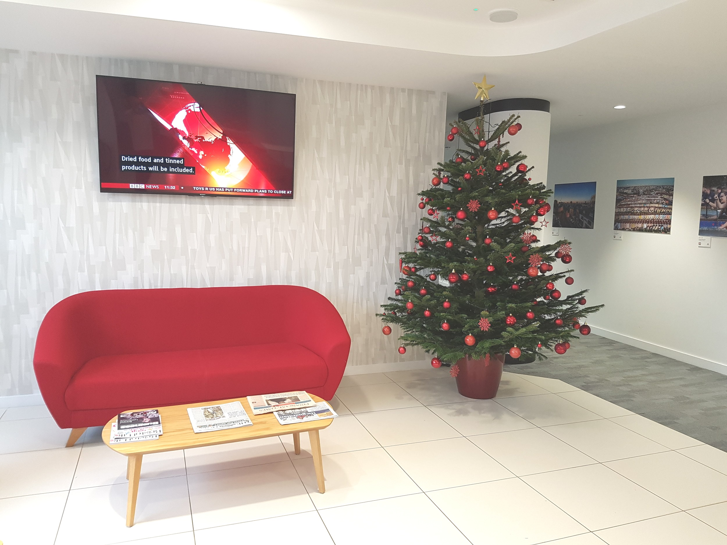 Christmas trees hire - Let us bring a bit of festivities to your working space. Hassle free Christmas for you and your colleagues, we will take care of putting your tree and will recycle it in January.