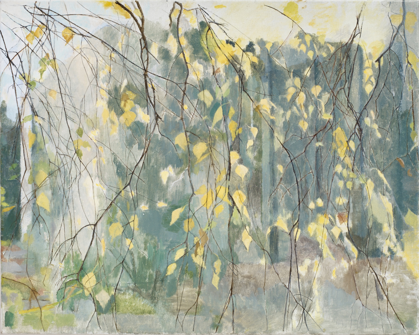 </strong><em>Betula Weeping</em> <br/>2009-14<br/> oil on canvas<br/> 60 x 75cm<strong>