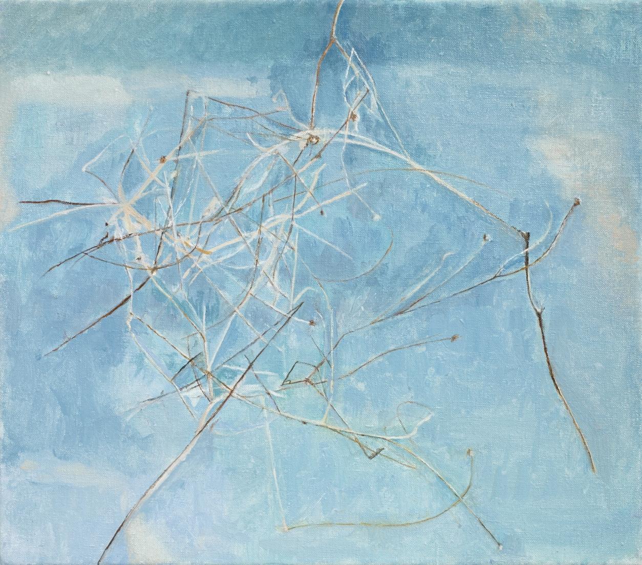 </strong><em>Spent Stems</em> <br/> 2014<br/> oil on canvas<br/> 30 x 40cm<strong>