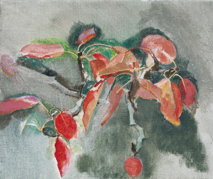 </strong><em>Pear's Last Leaves</em><br/> 2015<br/> oil on canvas<br/> 26 x 30cm<strong>