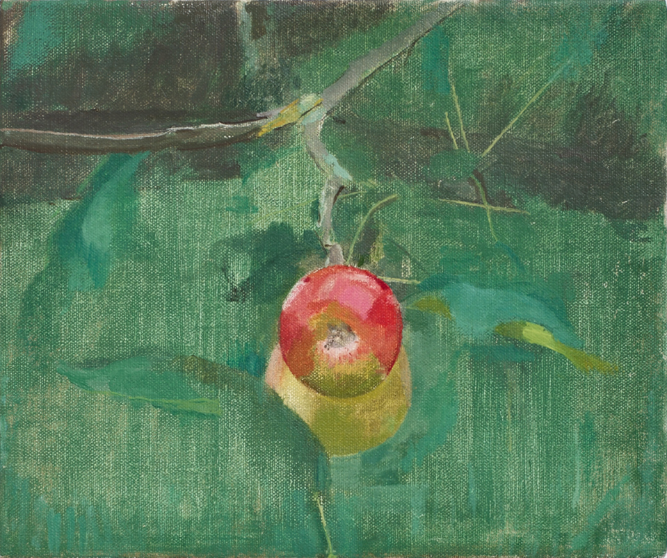 Pair of Apples, 2015, oil on canvas, 26 x 31 cm