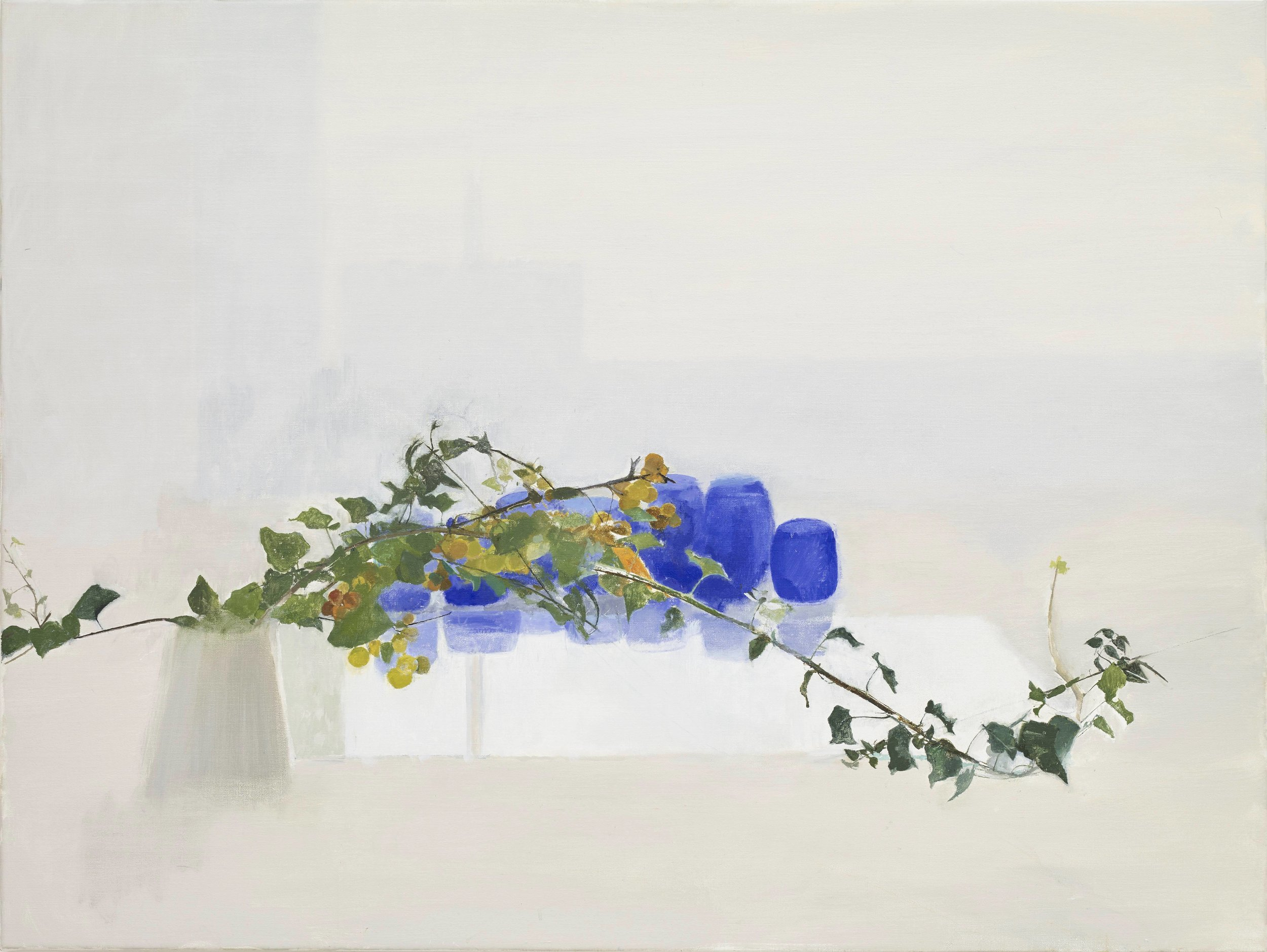 Blue Remembered, 2018, oil on canvas, 110 x 86 cm