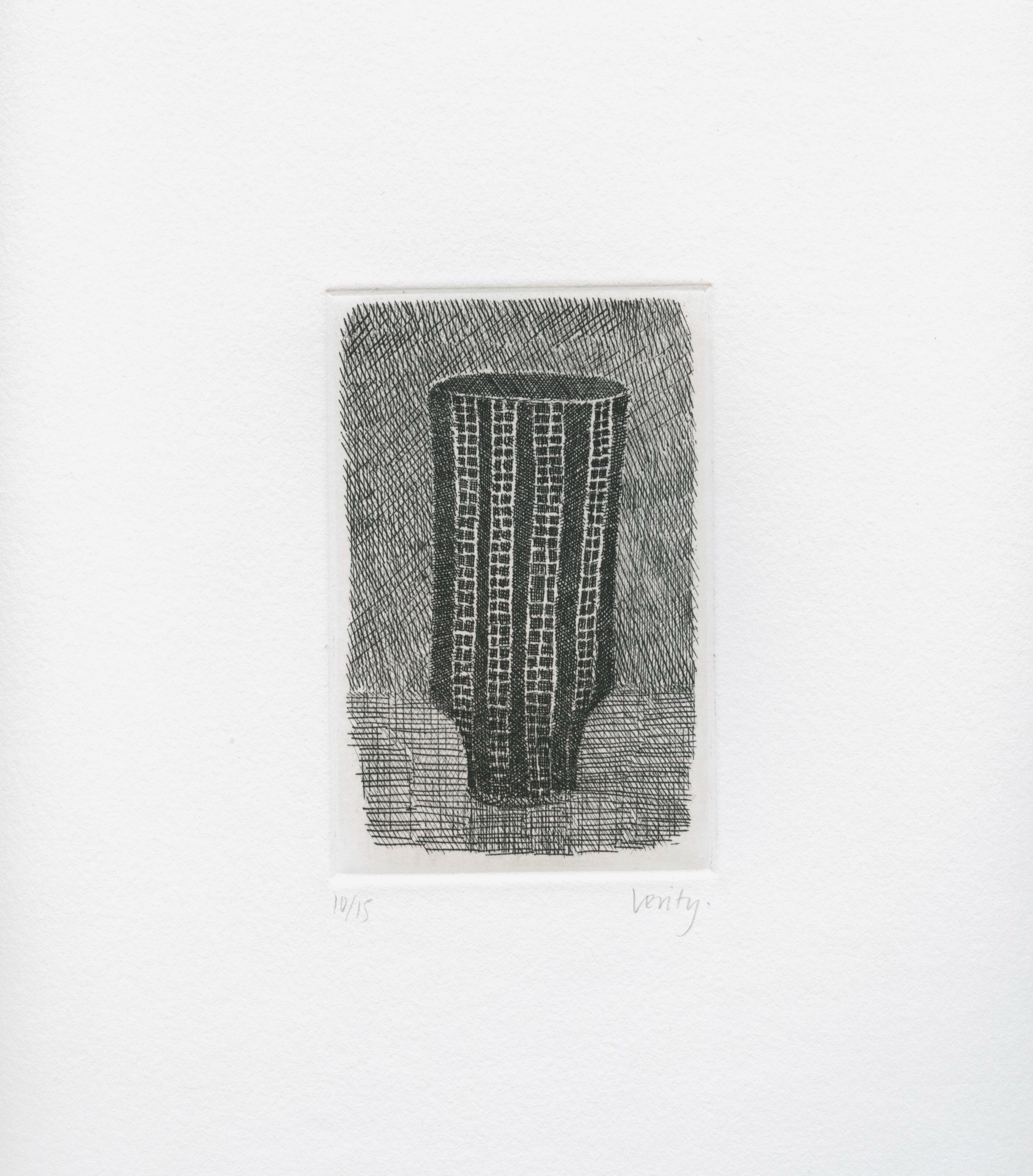 Lucie Rie Pot  2006 etching  32 x 25 cm