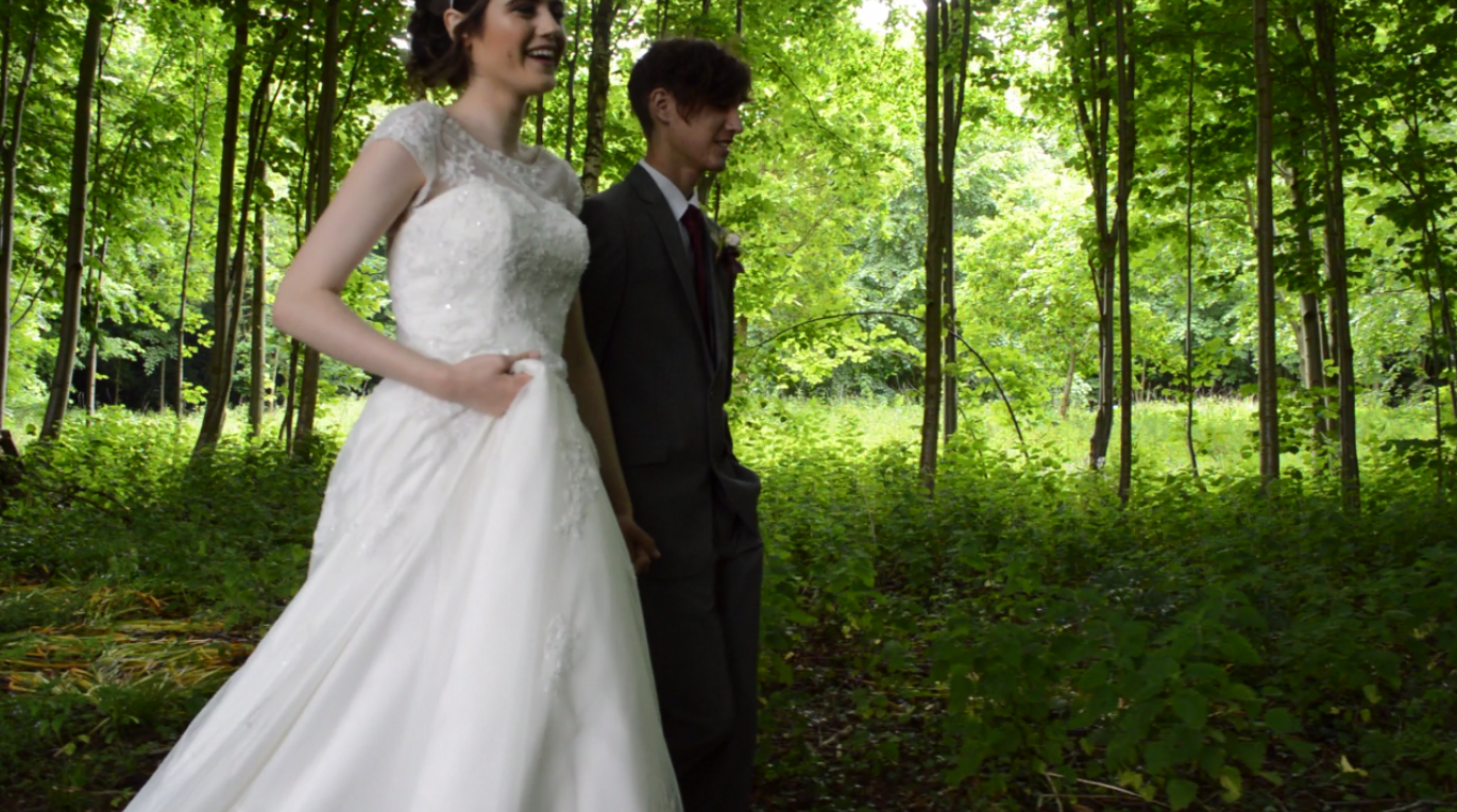 Image: BTS shot with on trend wedding dress supplied by Maisie May Bridal www.maisiemaybridal.co.uk