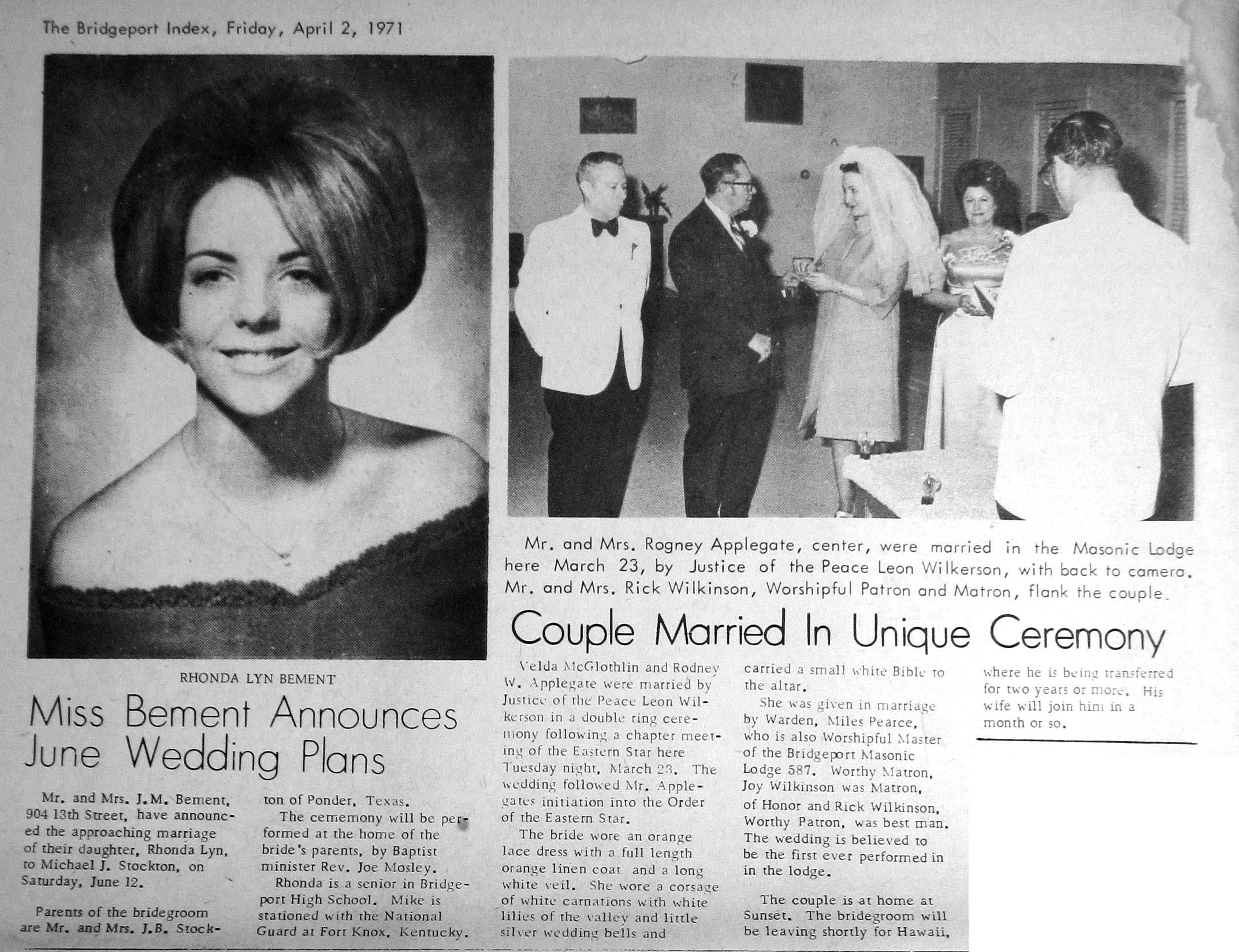 Above: Some historical engagement & wedding announcements via the local paper but Race Wedding Videography has a new option - a contemporary 'Love Tale' - engagement video for the modern world.