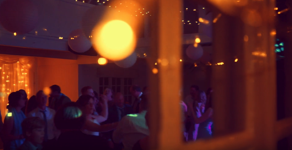 Image: Lights, camera, dance! Caught through the windows and reflections!