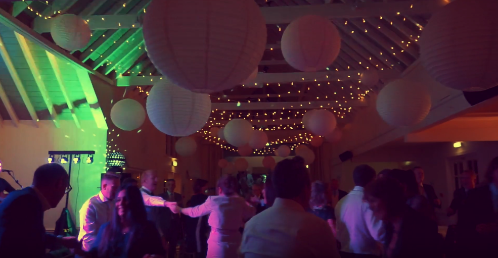 Images above: Celebrations continue into the night with a host of dancing and music under the beautiful hanging lanterns and lighting supplied by Sam Race Venue Decoration.