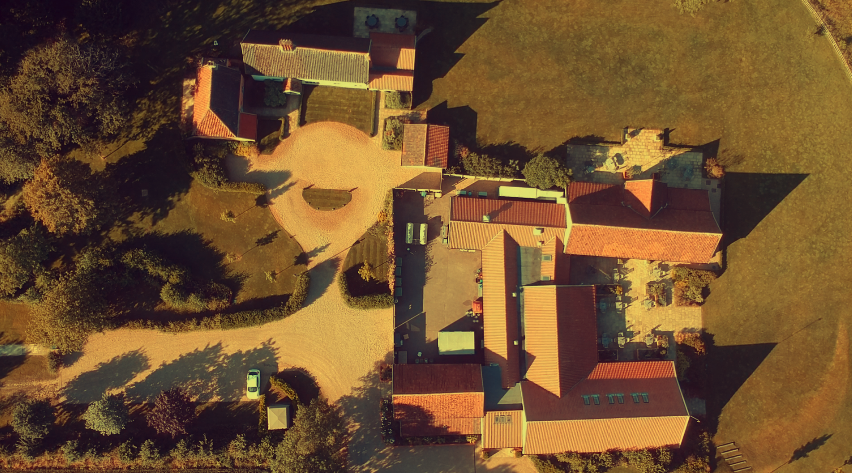Image above: Easton Grange wedding venue from a different perspective helps set the scene!