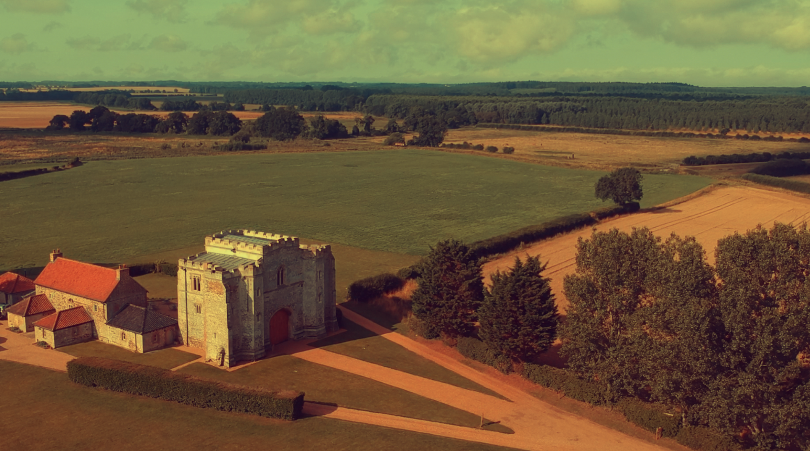 Image: The drone capturing some of Pentney from above.
