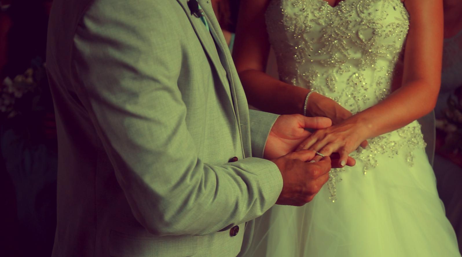 Image: 'I do' Bianca & Ashley at the gatehouse in their wedding film