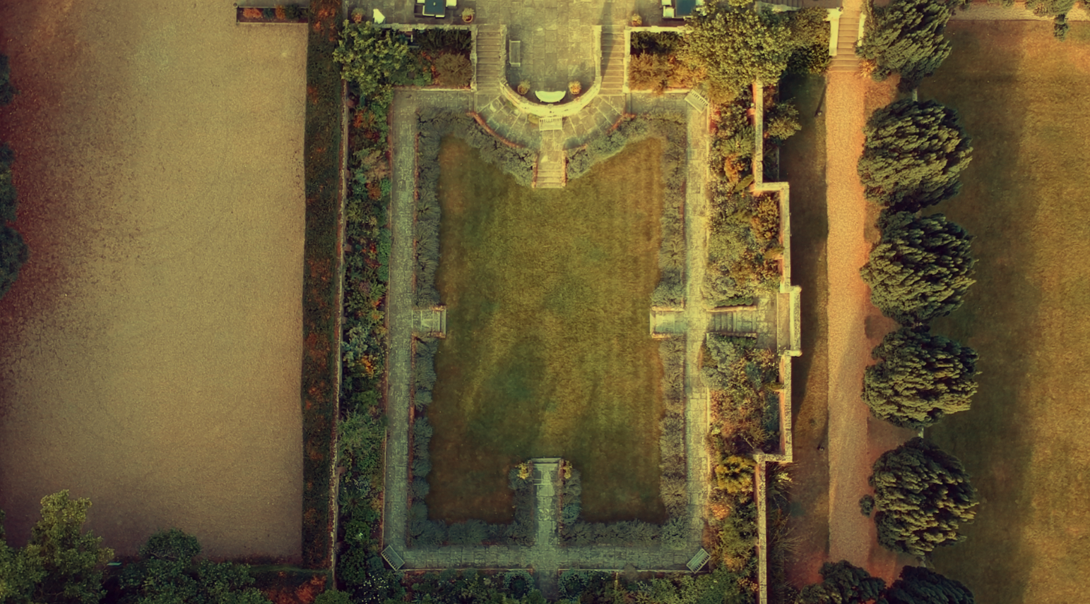 Image: Lanwades Hall gardens from above!