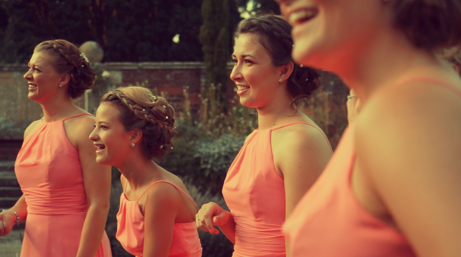 Image: Bridesmaids on call for Jenna on the day!