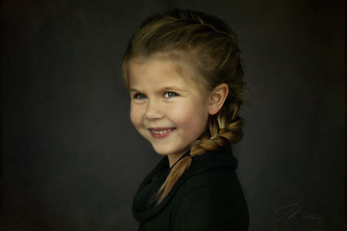 Fine Art Children's Portraiture of Young Girl Smiling in McKinney Texas