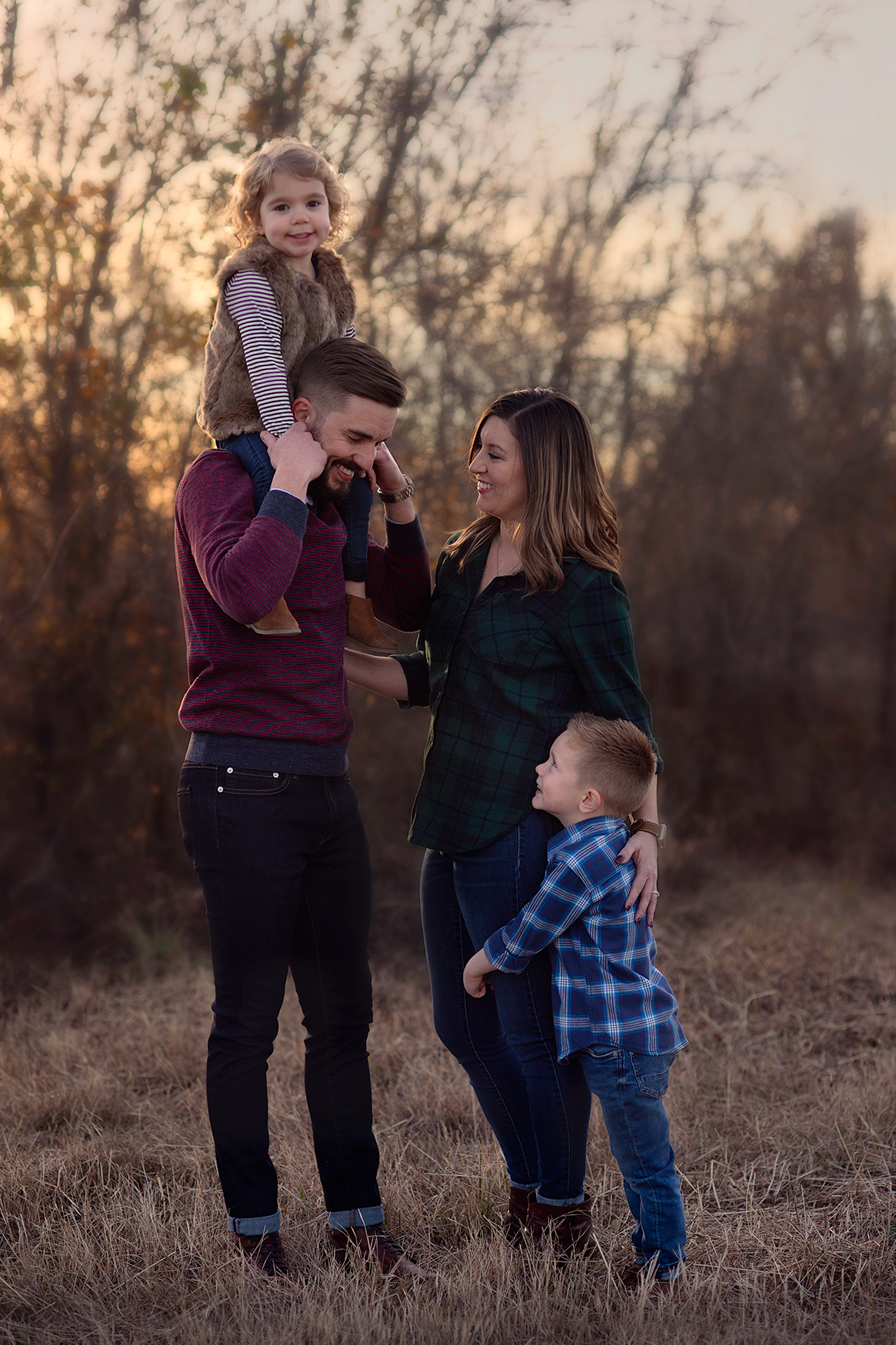 Warm Family Portrait of McKinney Texas Family