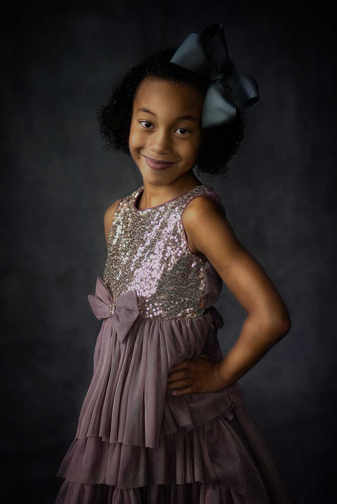Fine Art Children's Portraiture in studio of girl in Lindale Texas