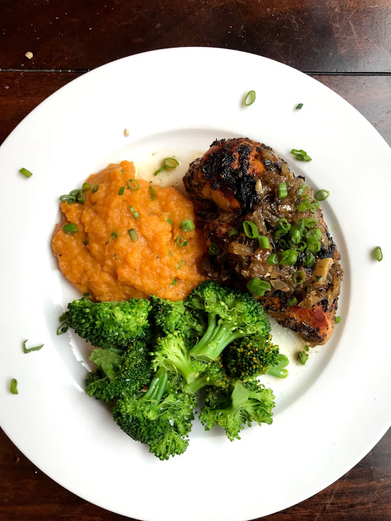 Jamaican Jerk Chicken With Coconut Sweet Potato Mash Campbell Comfort