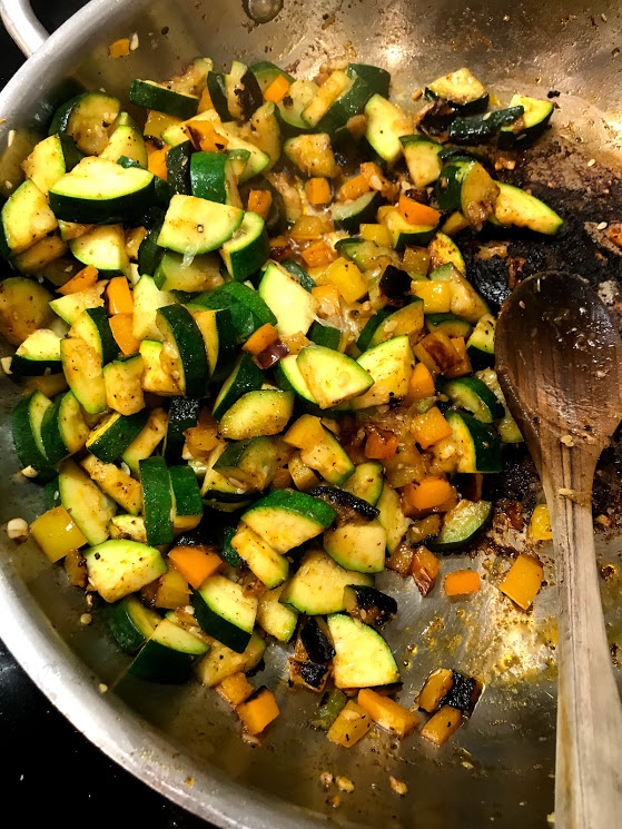 Sauteed veggies for the win. Serve family style or plate it up!!! Or package everything into single portions for lunches or dinner. Easy!