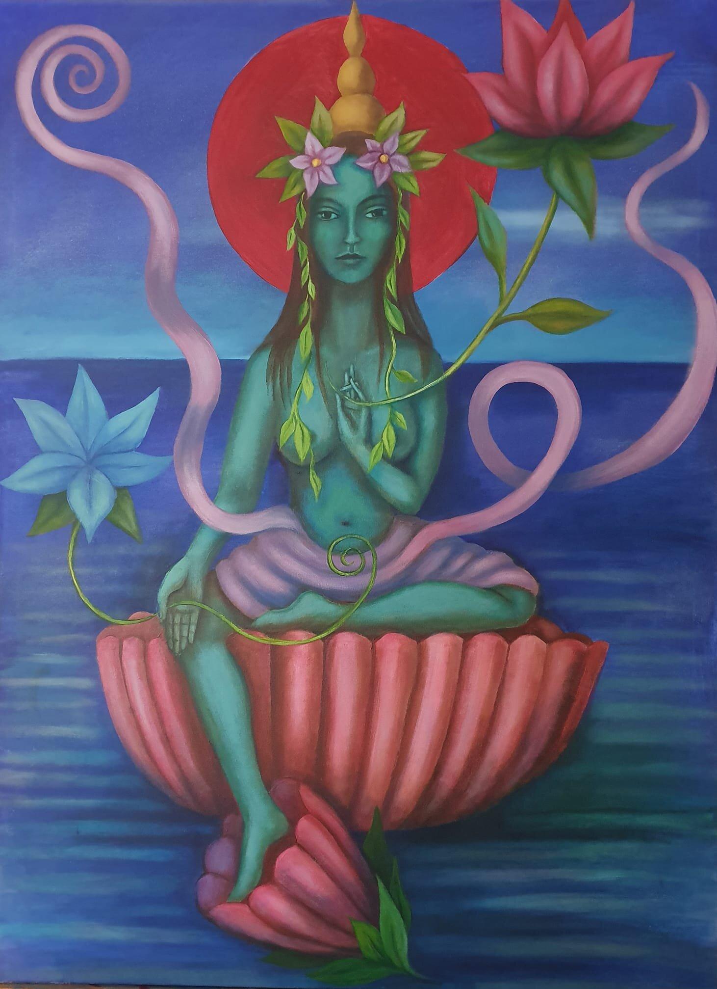 Green Tara painting.jpg