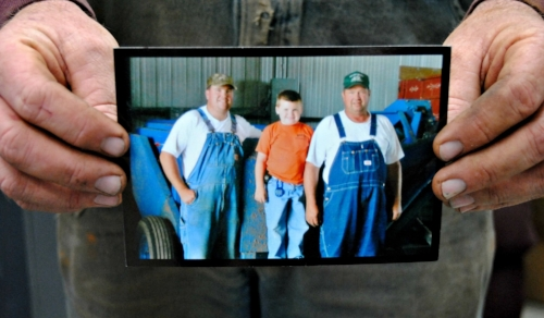 Three Generations of Miller. Justin, Justin's Son, Seth, and Lenny.