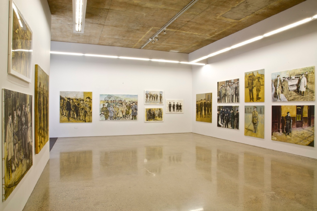 Black and Tan Installation Shot at Kevin Kavanagh Gallery, 2010