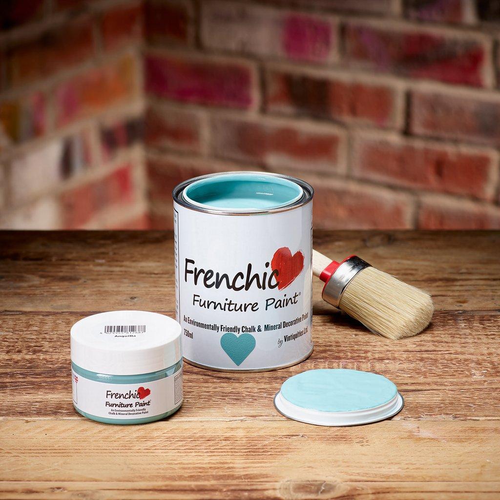 Original Frenchic Paint  - täysin hajuton, muoviton ja turvallinen kalkkimaali. Sävy Anguilla -se turkooseista turkoosein!