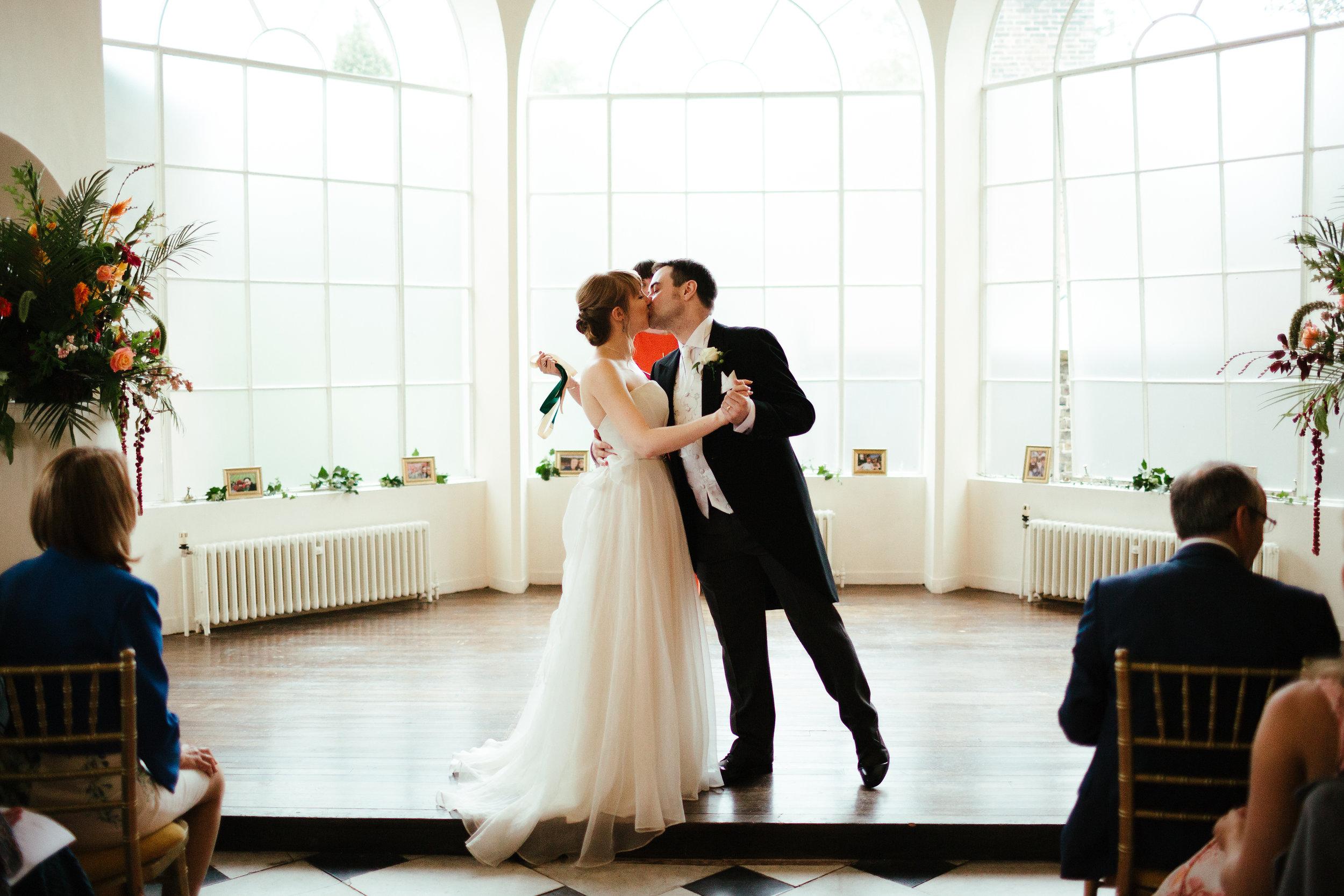 Sarah and Mark's Humanist Wedding Ceremony at Addington Palace, Croydon. Image by  Eneka Stewart Photography