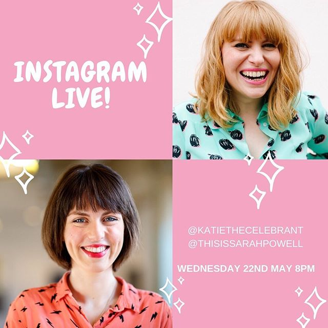 LIVE TONIGHT 8PM with the wonderful podcaster, presenter and professional celebrator @thissarahpowell! 🍾 🥳 Tag along to hear two excitable wedding celebrants CELEBRATING LIFE... with a cheeky mid-week Sherry! As Sarah would say, it'd be GLORIOUS TO HAVE YOU, DARLINGS!!!! 😘