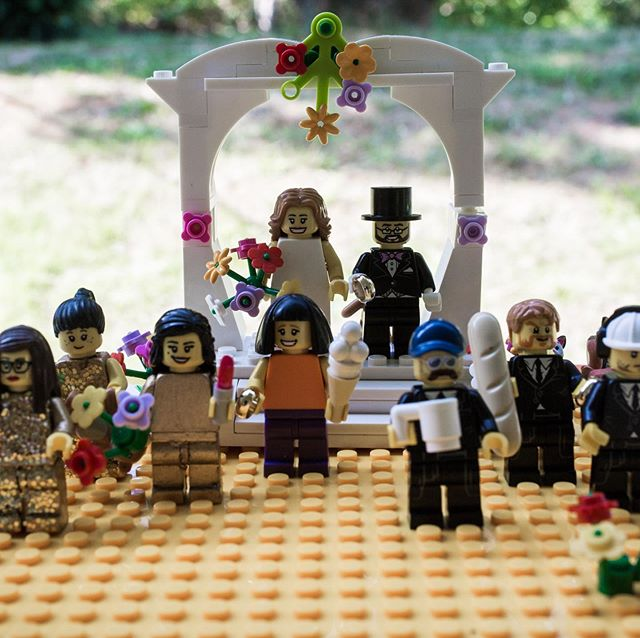Being immortalised as a Lego celebrant for Amanda and Matt's wedding has to be a career highlight! I love the attention to detail: orange top (sah on brand!), cute bob and, rather wonderfully, a GIGANTIC ice cream!!! ( G'wan gal, gettit down ya! 😛)I'd love to say Lego Katie was being treated like the queen she clearly is...but, as soon as she arrived home, Hector sniffed her down ('GIVE ME LEGO MUMMY!' 👀).She's now living a slightly-less glam life, in a box of his Lego detritus... sans ice cream.🍦☹️ Image @himandherweddingphotography . . . . . #funwedding #weddingdetails #norfolkwedding #relaxedweddinng #rocknrollwedding #legowedding #lanwadeshall #lanwadeshallwedding #realwedding #suffolkwedding #celebrantledceremony #humanistwedding #humanistceremony #geekwedding #yourdayyourway