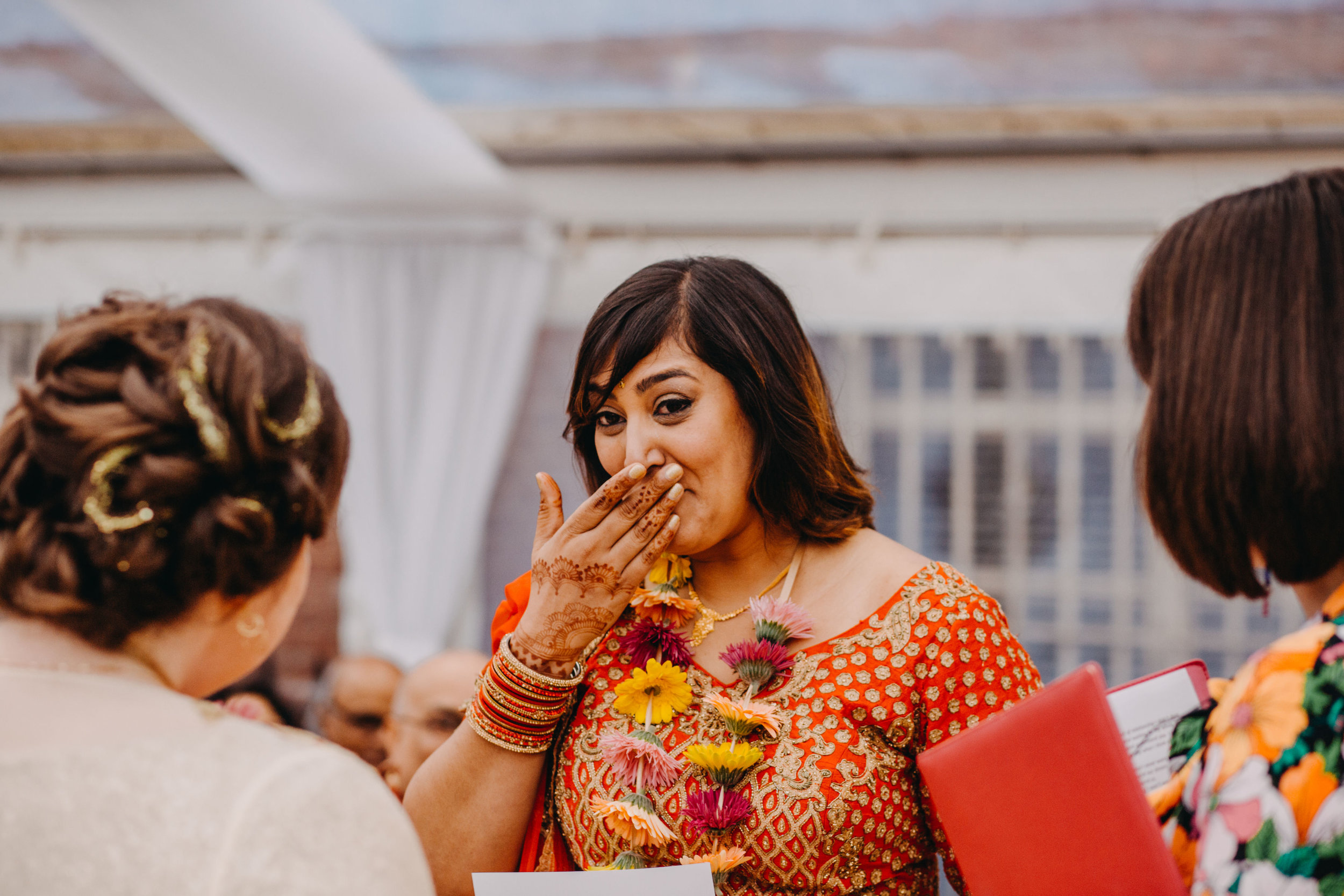 Reshma doing her best to hold it together (and failing!) during the personal promises.  Image by    Lex Fleming